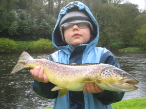 Luke with a Blackwater Trout